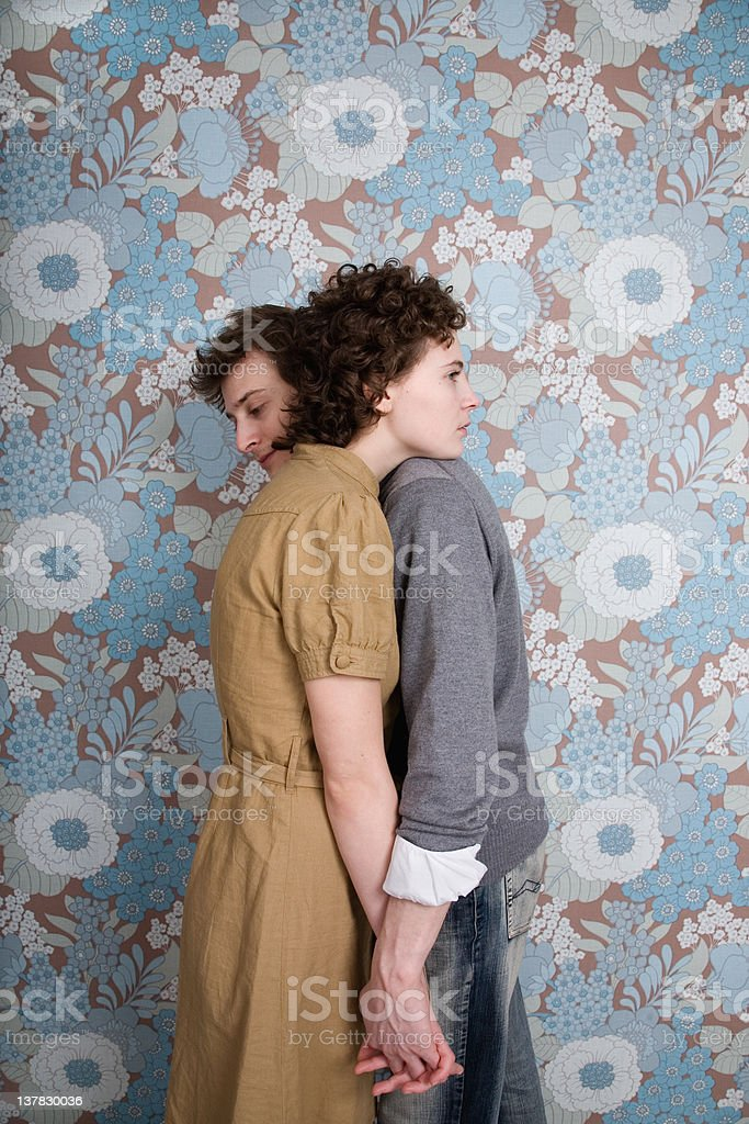 couple embrassing stock photo