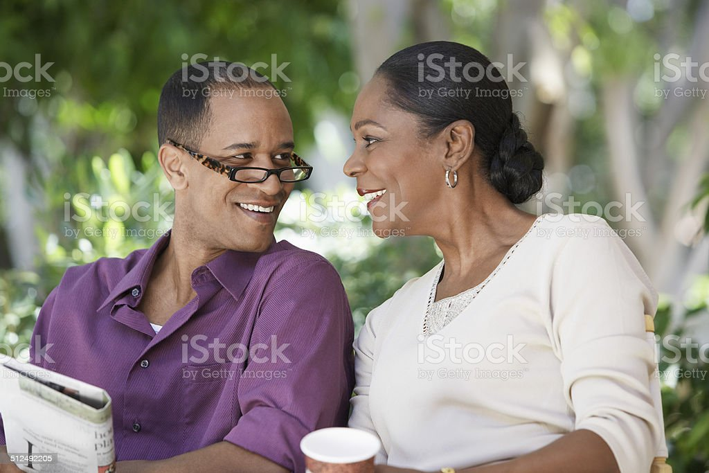 Couple Enjoying an Afternoon Together stock photo