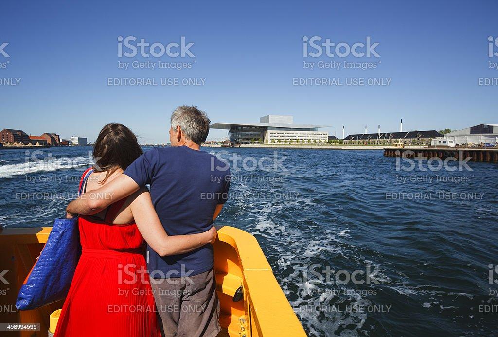 Couple enjoying Copenhagen stock photo