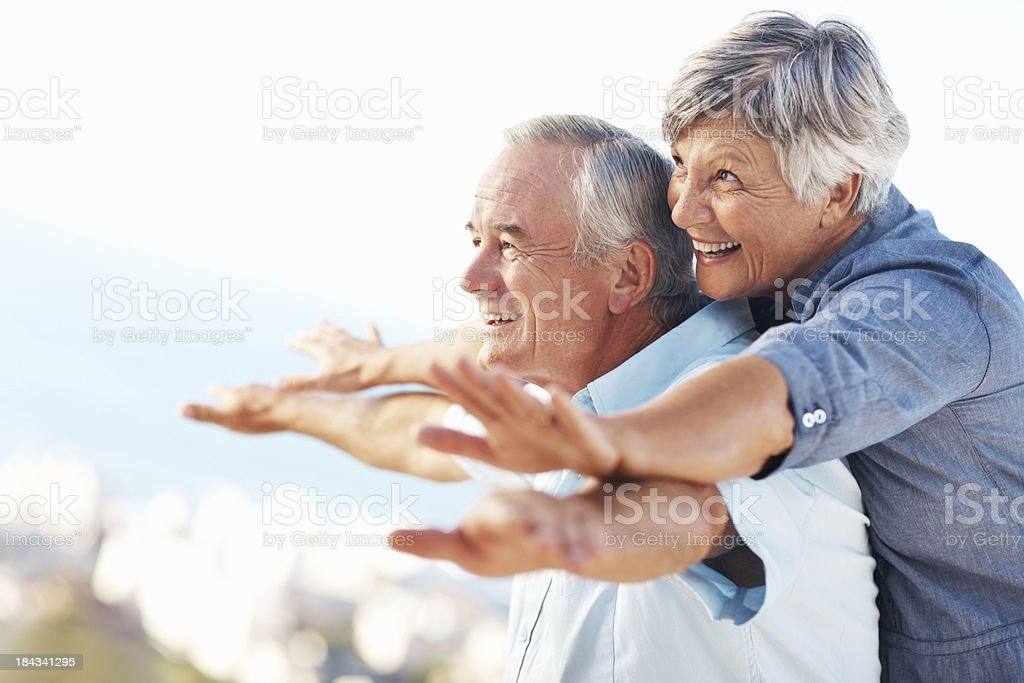 Couple enjoying golden years royalty-free stock photo