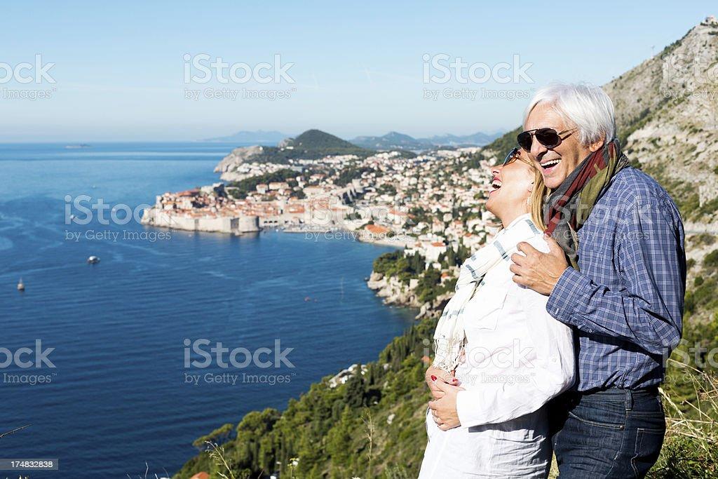 Couple enjoying holidays royalty-free stock photo