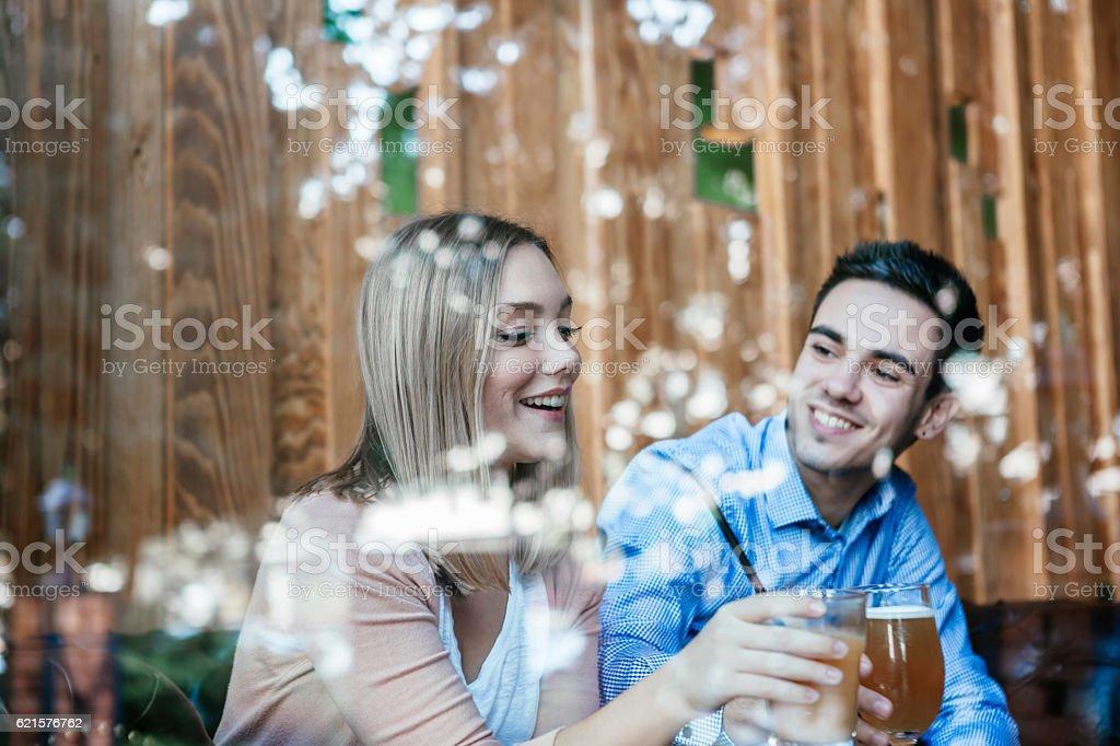Couple profitant de café photo libre de droits