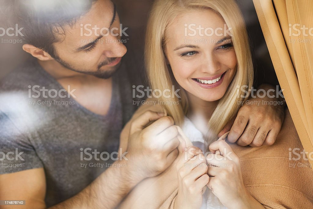 Couple enjoying morning together royalty-free stock photo