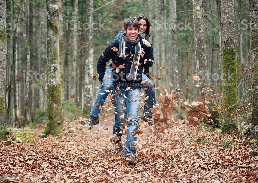 Couple enjoying this beautiful day royalty-free stock photo