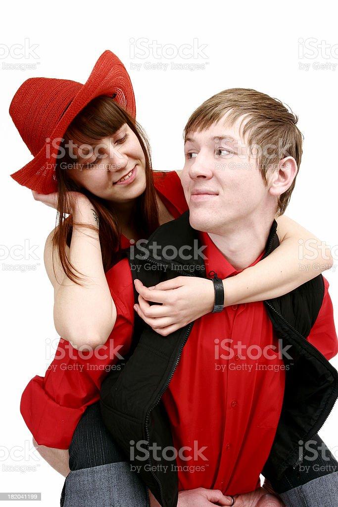 Couple enjoying time together royalty-free stock photo
