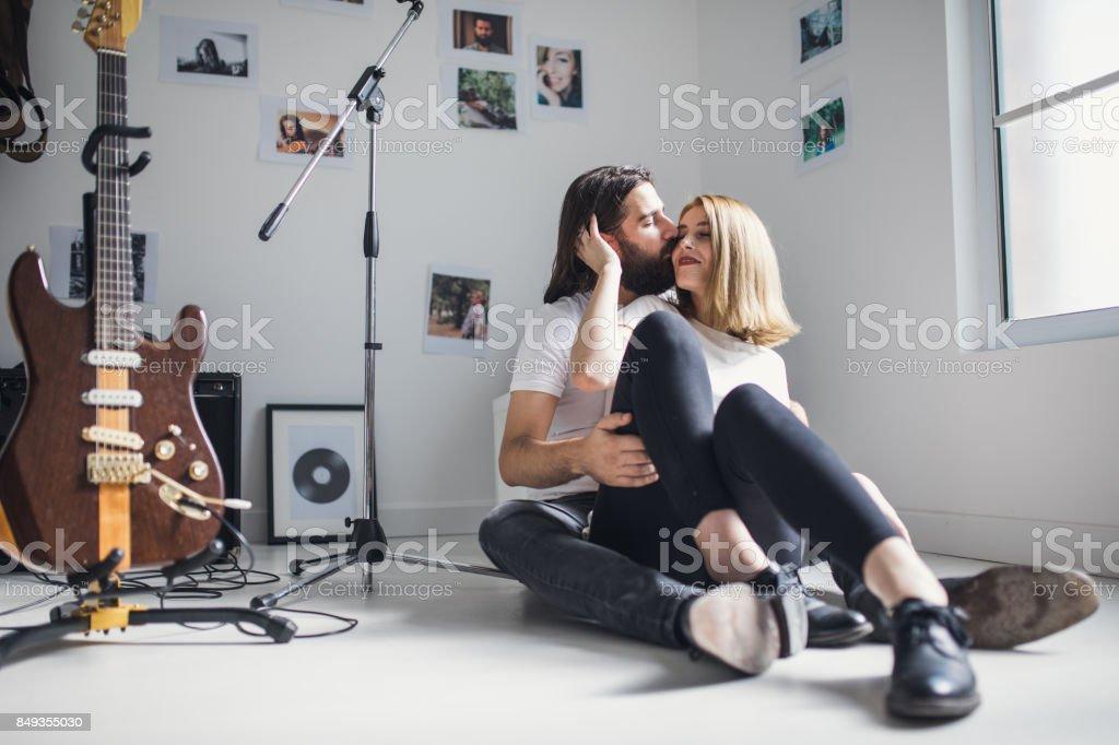 Couple enjoying together stock photo