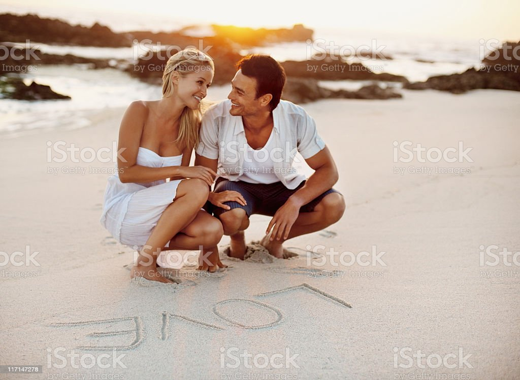 Couple expressing love royalty-free stock photo