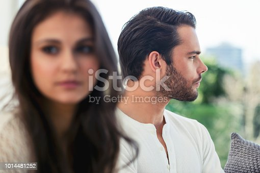 520496686istockphoto Couple fighting at home. 1014481252