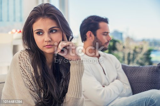 520496686 istock photo Couple fighting at home. 1014481254