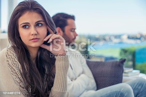 520496686istockphoto Couple fighting at home. 1014481274