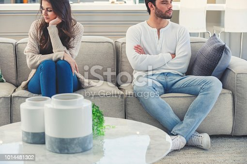 520496686istockphoto Couple fighting at home 1014481302