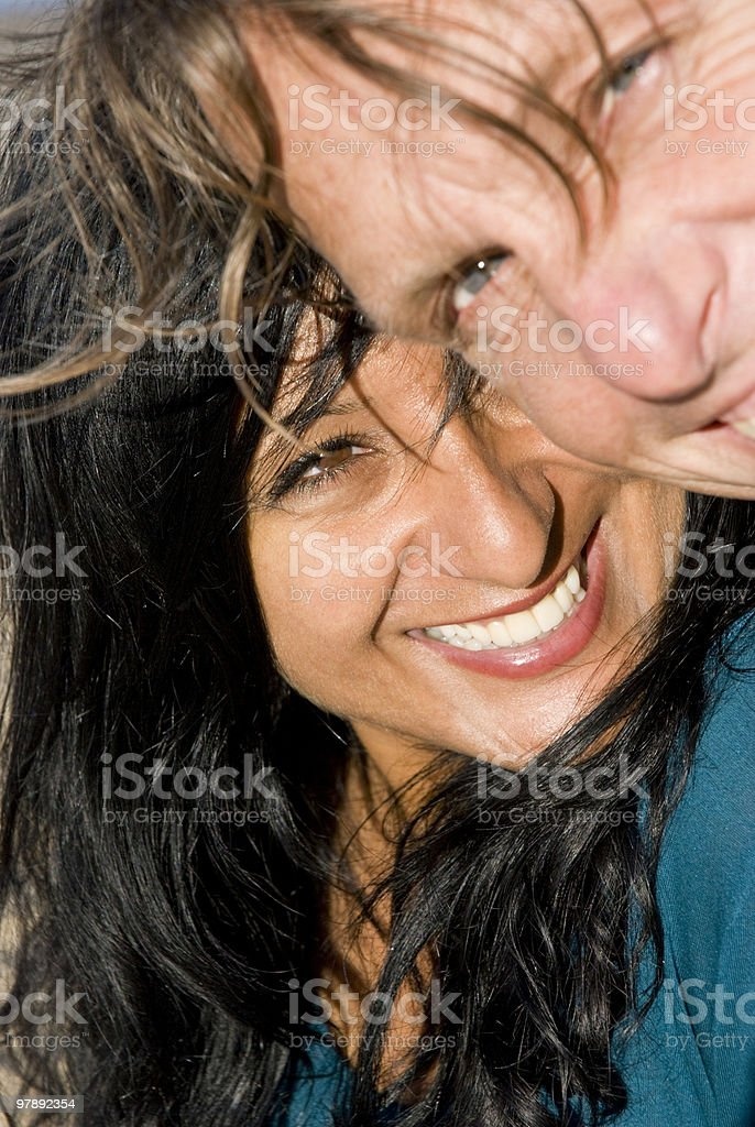 Couple fooling around royalty-free stock photo