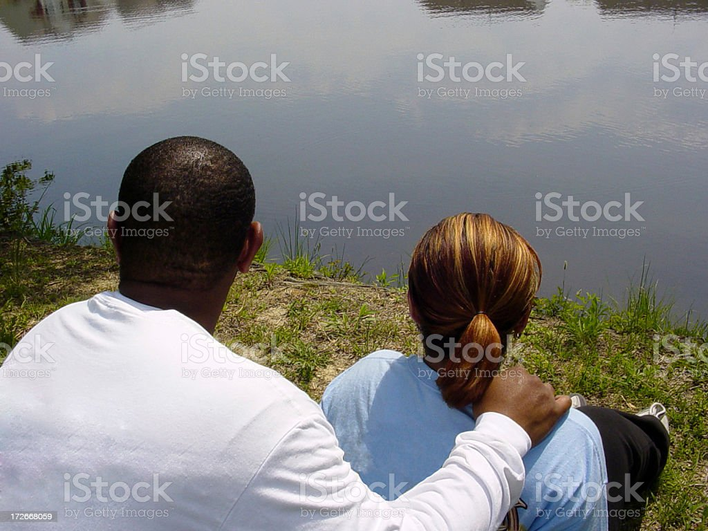 Couple From Behind 1 stock photo