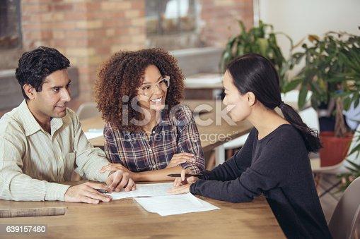 istock Couple getting financial advice 639157460