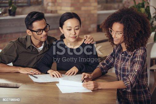 istock Couple getting financial advice 802798540