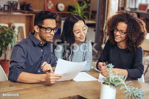 istock Couple getting financial advice 842054026
