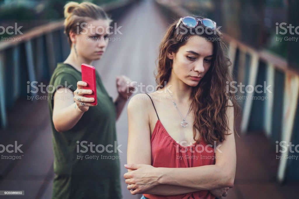 Couple going through some relationship problems. stock photo