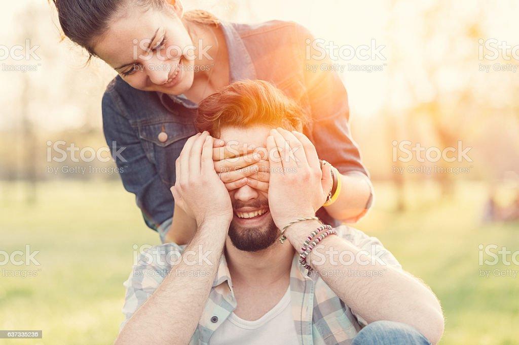 Couple happiness stock photo