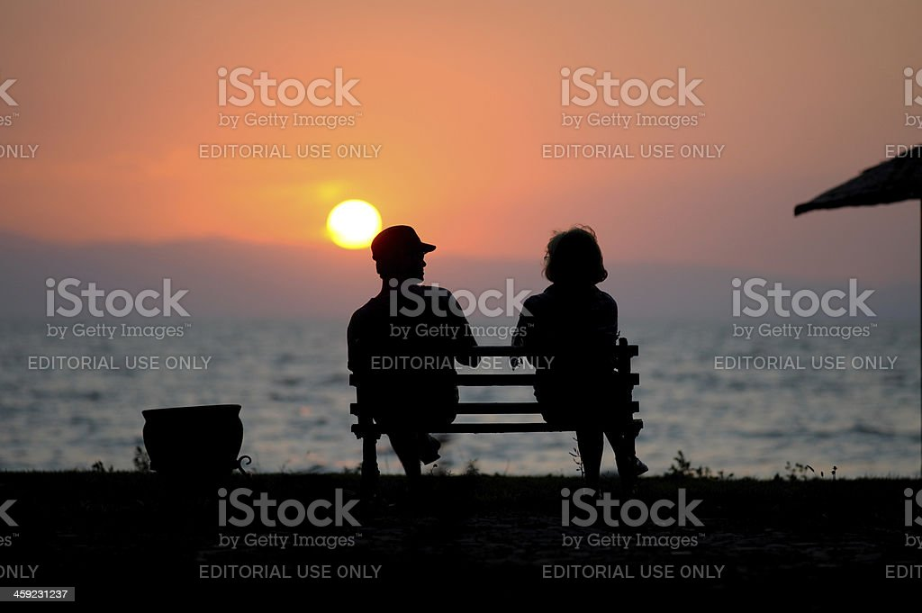 Couple have romance stock photo
