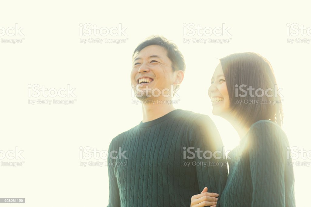 Couple having a good time in outdoors ストックフォト