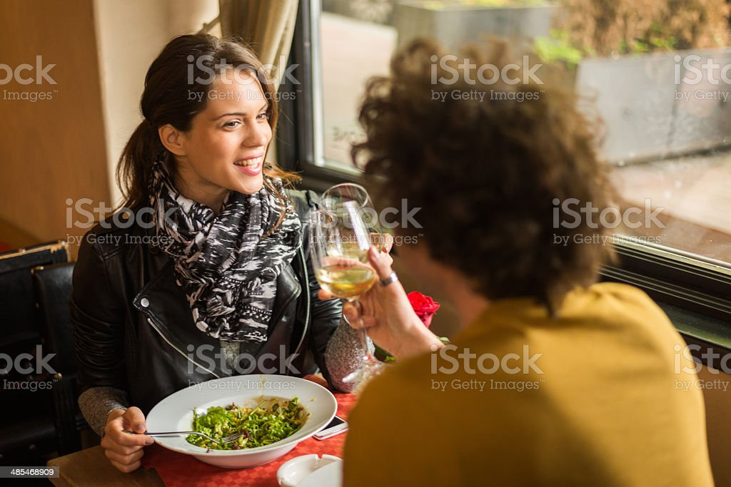 Couple having a meal royalty-free stock photo