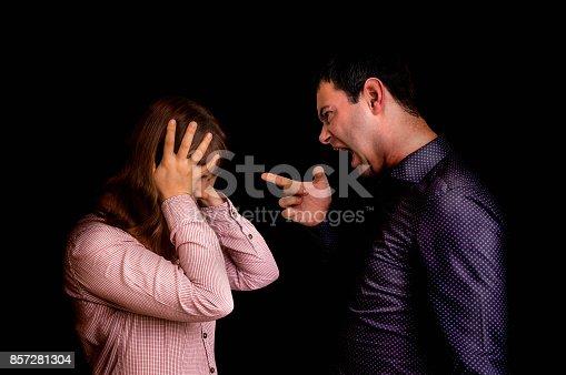993706062 istock photo Couple having argument - family quarrel concept 857281304