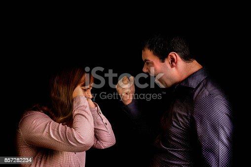 993706062 istock photo Couple having argument - family quarrel concept 857282234