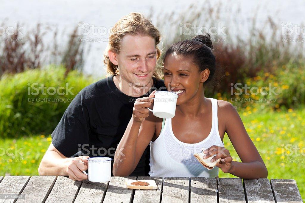Couple having breakfast. royalty-free stock photo