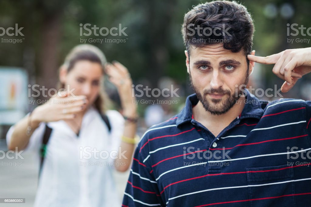 A couple having difficulties in their relationship stock photo