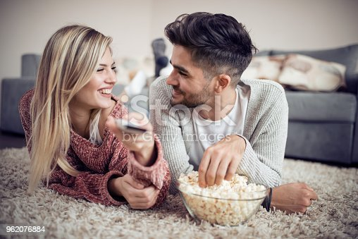 istock Couple having fun at home 962076884