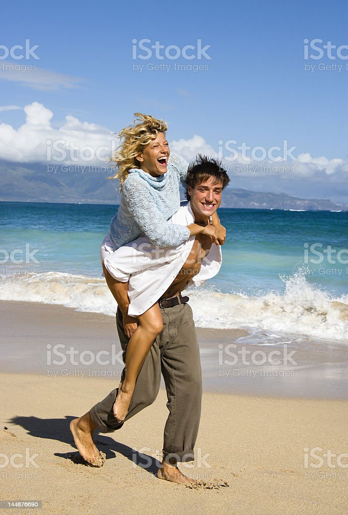 Couple having fun. royalty-free stock photo