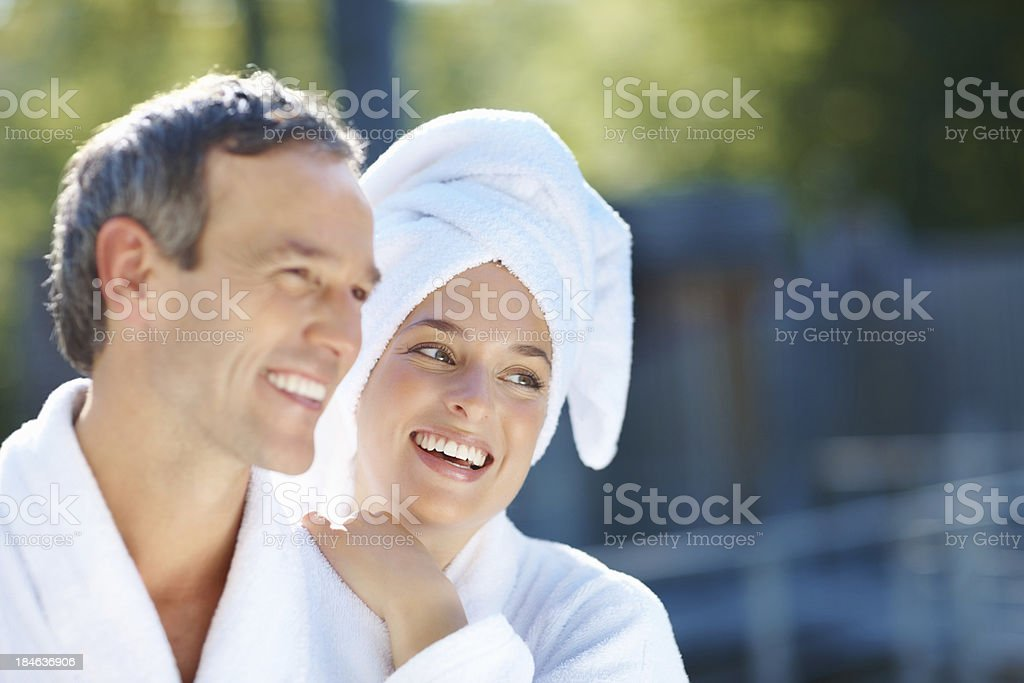 Couple having fun together royalty-free stock photo