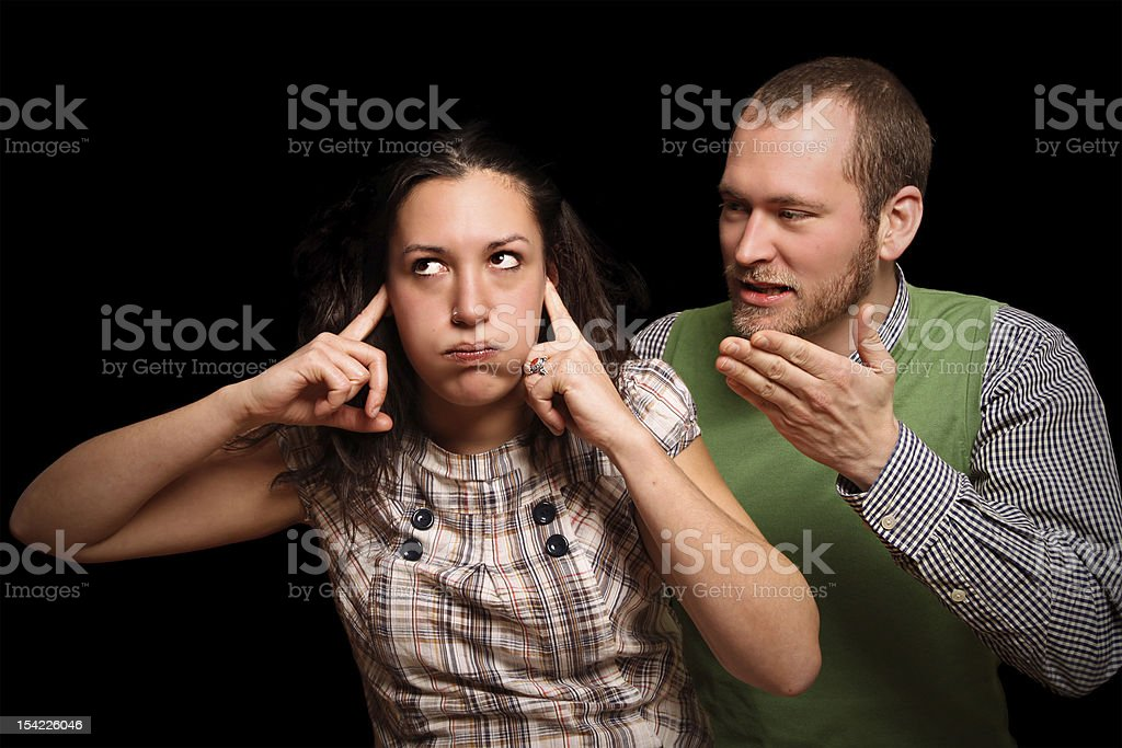 Couple having relationship difficulties royalty-free stock photo