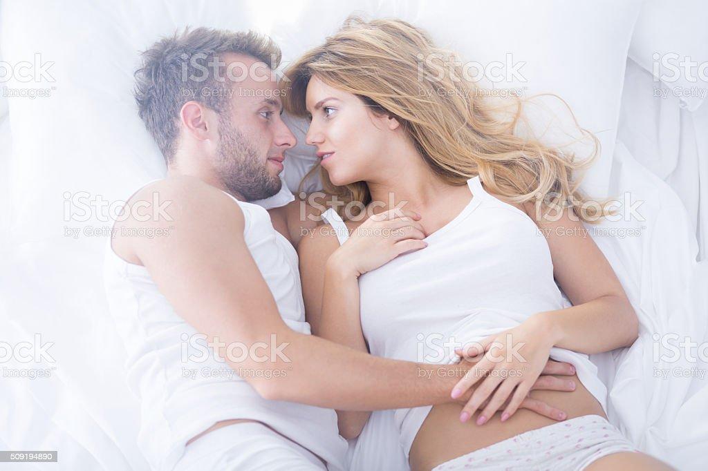 Couple Having Sensual Foreplay Stock Image