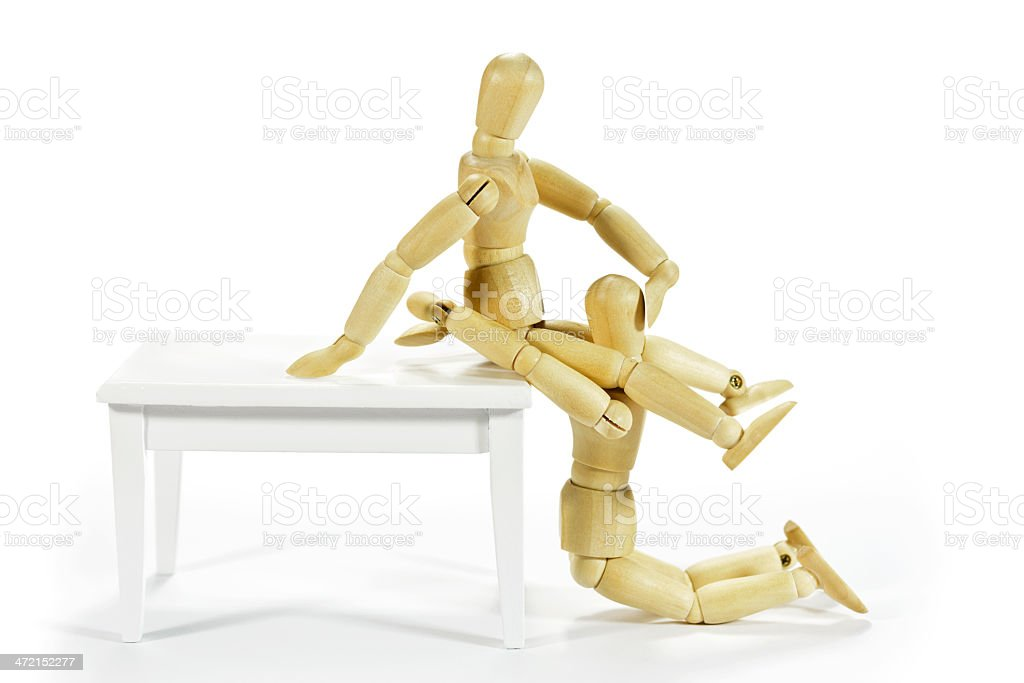 Couple having sex on the table royalty-free stock photo