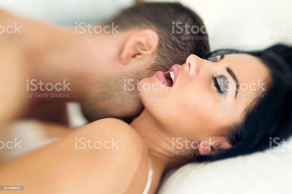Couple having sexual intercourse stock photo