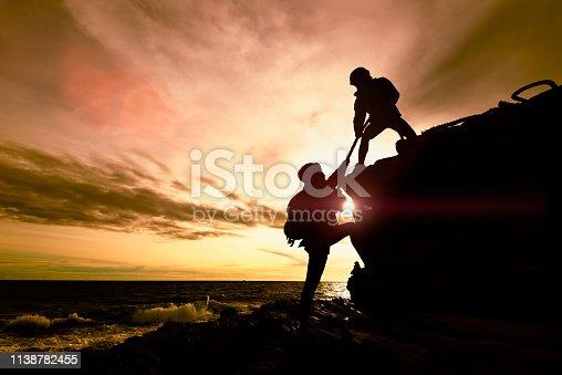 istock Couple helping 1138782455