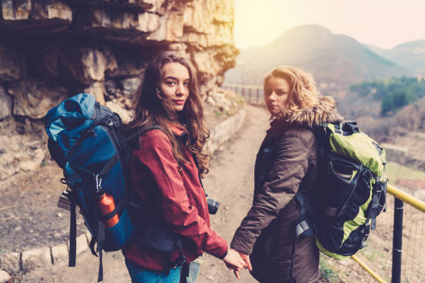 Picture of a lesbian couple on travel/Europe