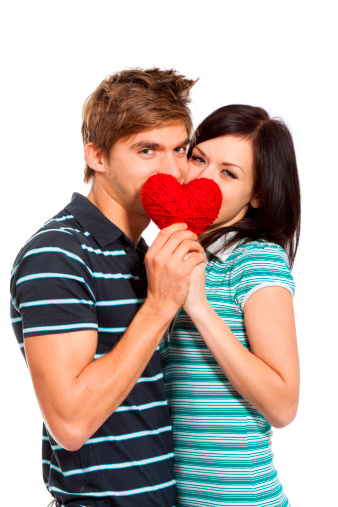 518335358 istock photo couple hold valentine heart kiss 153837965