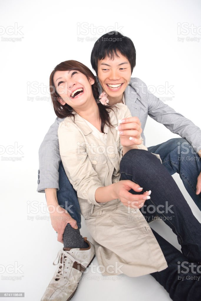 Couple holding each other royalty-free stock photo