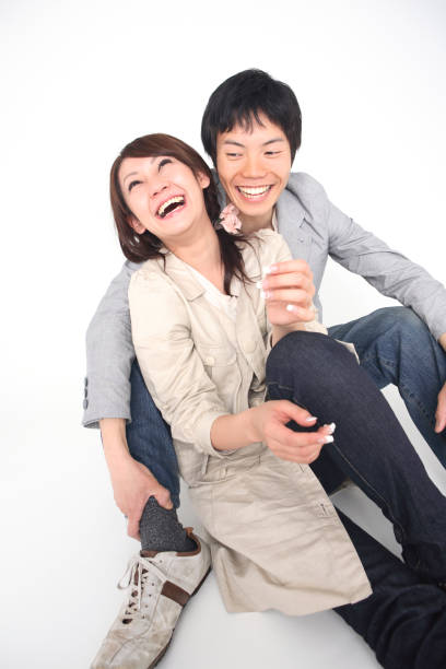 Couple holding each other stock photo