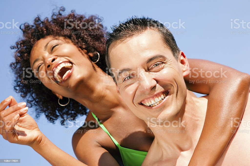 Couple - hugging each other on beach royalty-free stock photo
