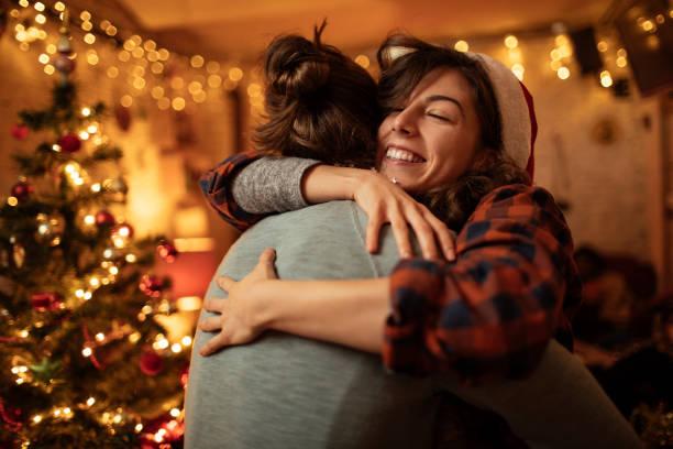 Couple hugging stock photo