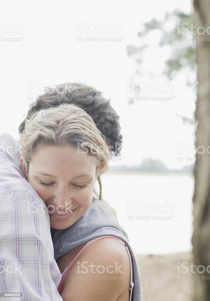 Couple hugging royalty-free stock photo