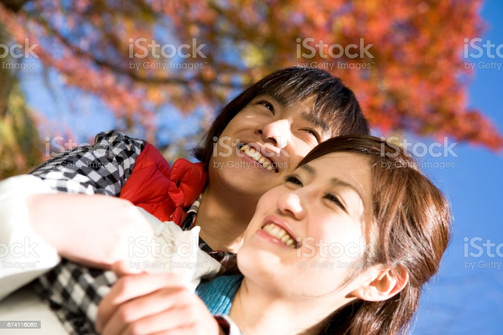 A couple images of autumn royalty-free stock photo