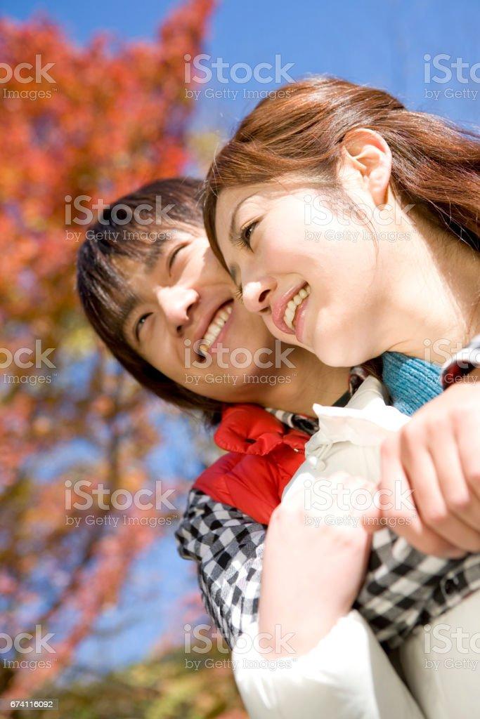 一對夫婦形象的秋天 免版稅 stock photo