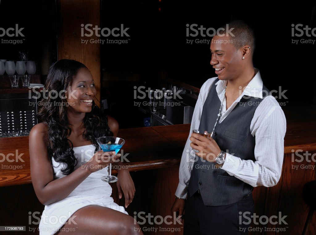 couple in a bar royalty-free stock photo