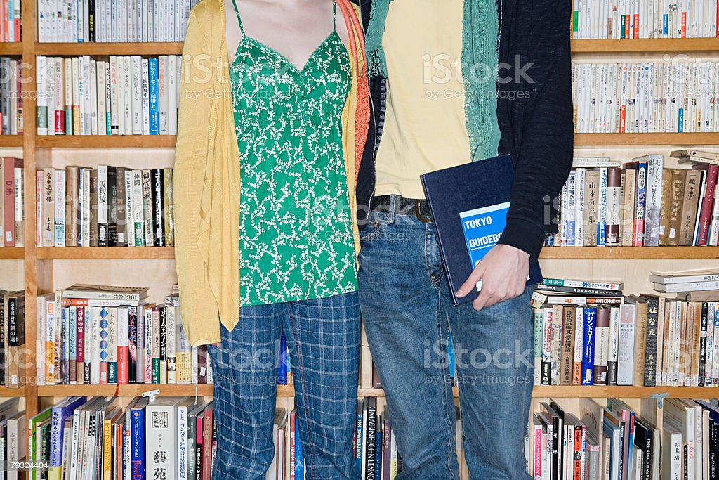 A couple in a bookshop 免版稅 stock photo