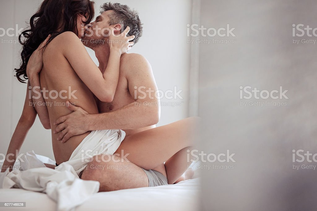 Couple In Bed Having Passionate Sex Royalty Free Stock Photo