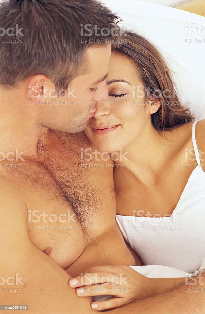 Couple in bed 免版稅 stock photo
